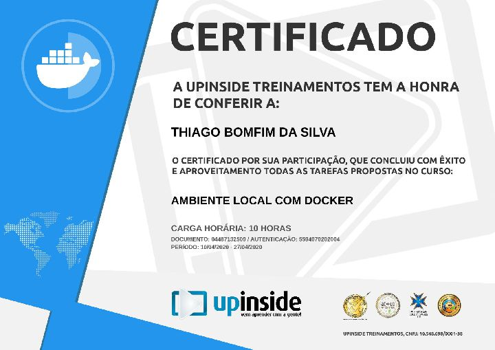 Certificado Thiago Bomfim Ambiente Local com Docker